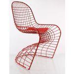 Elit metal bekleme sandalyesi kırmızı