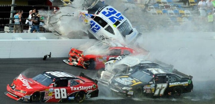 Bad wreck with images nascar wrecks nascar crash