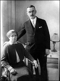 Thomas och Katia Mann på Grand Hotel i Stockholm 1929.