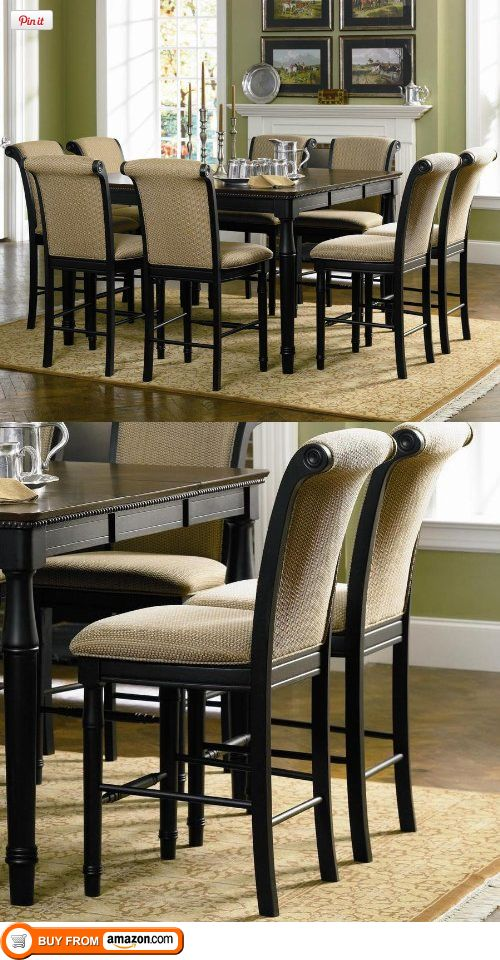 9pc Counter Height Dining Table Stools Set Cappuccino