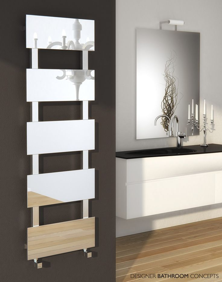 Mirror Designer Stainless Steel Heated Towel Rails From  DesignerBathroomConcepts.com