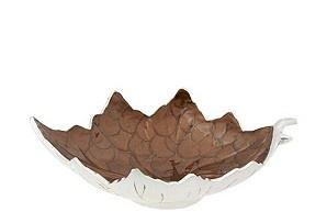 "13"" grape leaf bowl: $49"