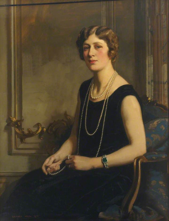 Mary, Princess Royal and Countess of Harewood (1897–1965). She and her husband Viscount Lascelles lived at Goldsborough Hall before their move to Harewood House.