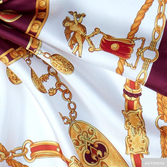 ANTORINI Imperiale Silk Scarf in Purple