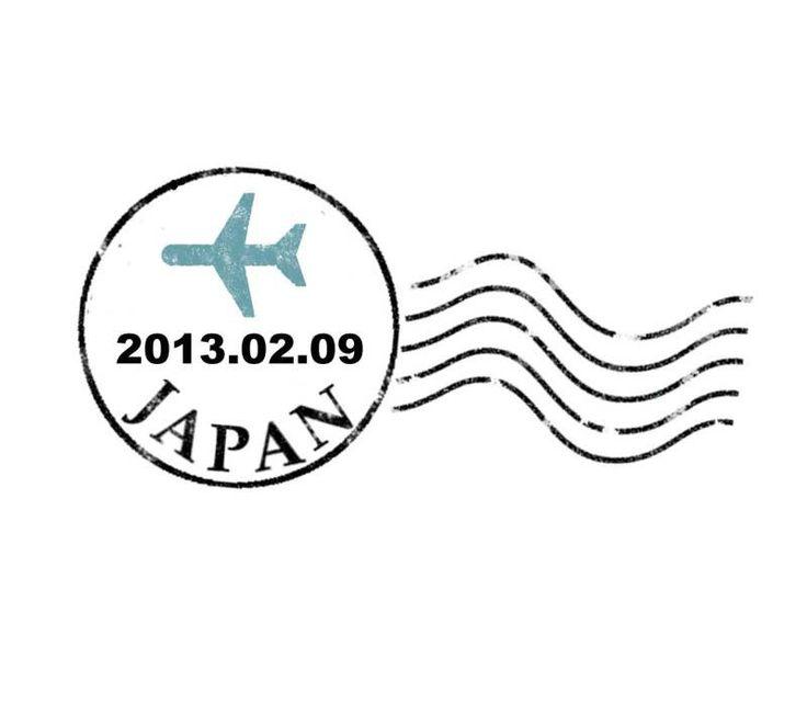 イニシャルロゴと飛行機の消印モチーフつくってみた の画像|0kajunのWedding Journey ~Bon Voyage!~