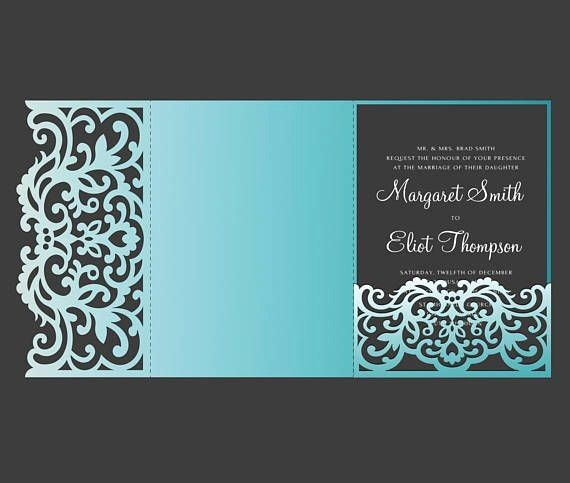 Tri Fold Wedding Invitations Template Inspirational Tri Fold Pocket Envelope 5x7 We Tri Fold Wedding Invitations Pocket Wedding Invitations Invitation Template
