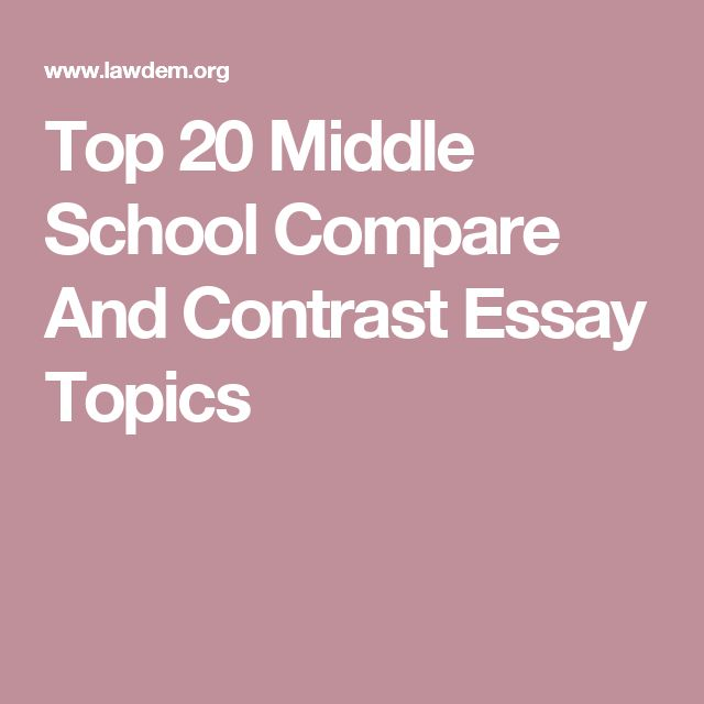 Compare and Contrast Essay Example Proposed by Expert