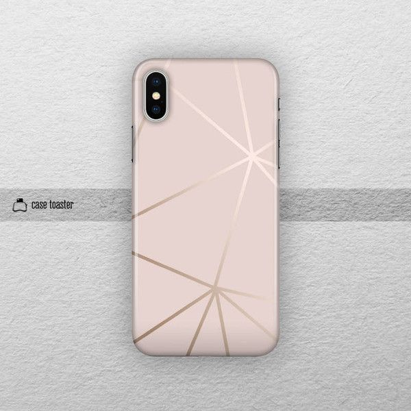 Rose Gold Iphone 8 Case Iphone X Tough Case Iphone 7 Plus Case Iphone 16 Liked On Polyvore Capas Para Telemovel Capas De Celular Rosa Capas De Celular