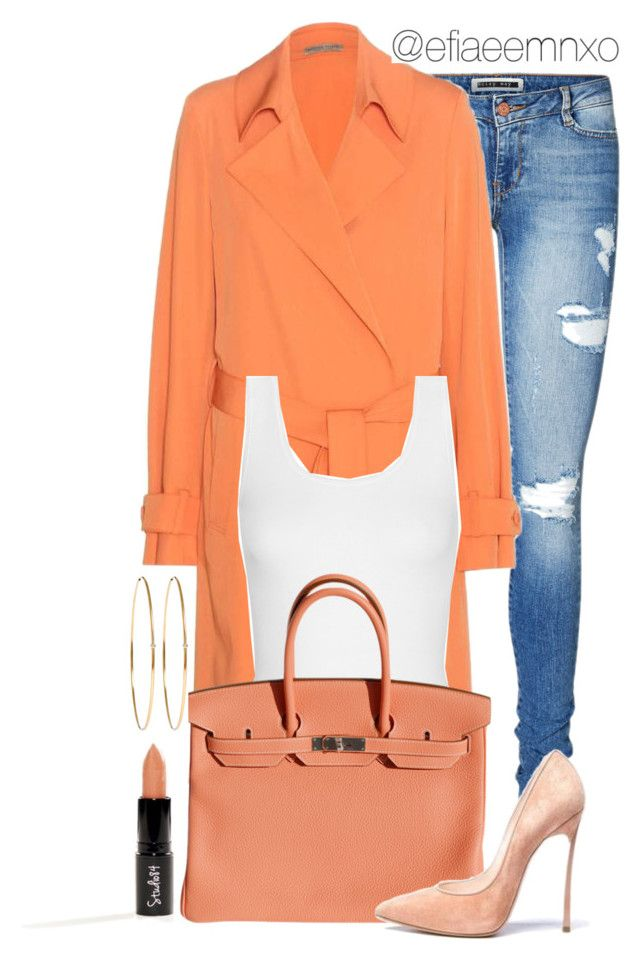 """Untitled #1055"" by efiaeemnxo ❤ liked on Polyvore featuring Vero Moda, Bottega Veneta, Yummie by Heather Thomson, Hermès, Casadei, Jennifer Meyer Jewelry, women's clothing, women, female and woman"