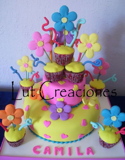 Torta Decorada de Cumpleanos A todo Color