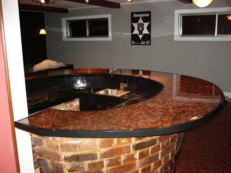 Penny Bar Top | Time | Pinterest | Of, Pennies and Bar tops