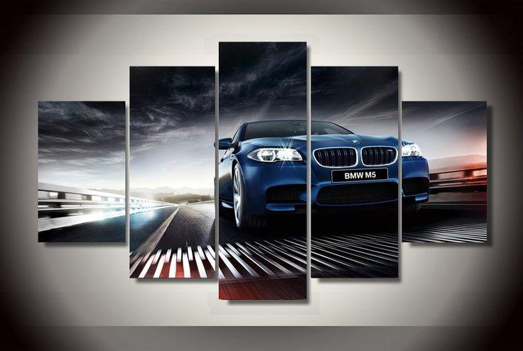 UnFramed Printed BMW m5 f10 sedan Painting on canvas room decoration print poster picture canvas Cuadros Decoracion Artworks //Price: $17.73 & FREE Shipping //     #hashtag2
