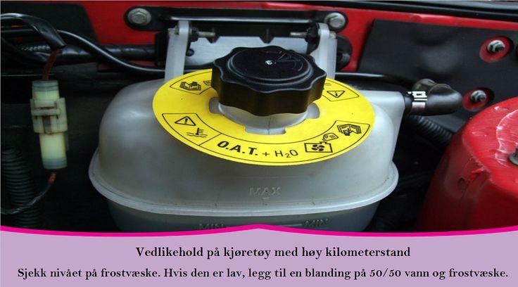 Vedlikeholdsoppgaver man bør utføre hvert år for biler med høy kilometerstand Kjølevæske er viktig for ditt kjøretøy sin funksjon. #vinterdekk