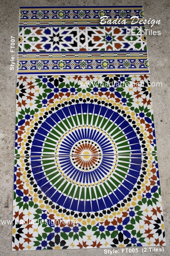 1000 images about colors of morocco on pinterest for Fez tiles