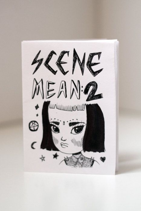 Scene Mean 2  Zine / Comic By Mel Stringer by girliepains on Etsy, $4.00