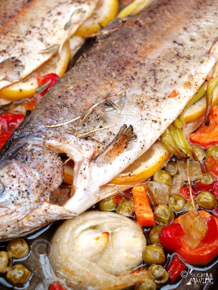 Baked trout/ Pastrav la cuptor