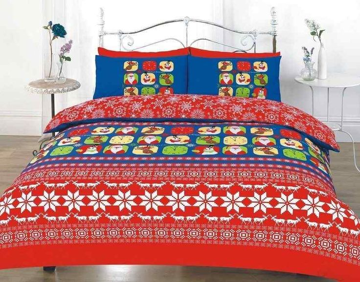 item new luxury printed christmas duvet quilt cover bedding set material absolutely machine washable single with 1 pillow case double