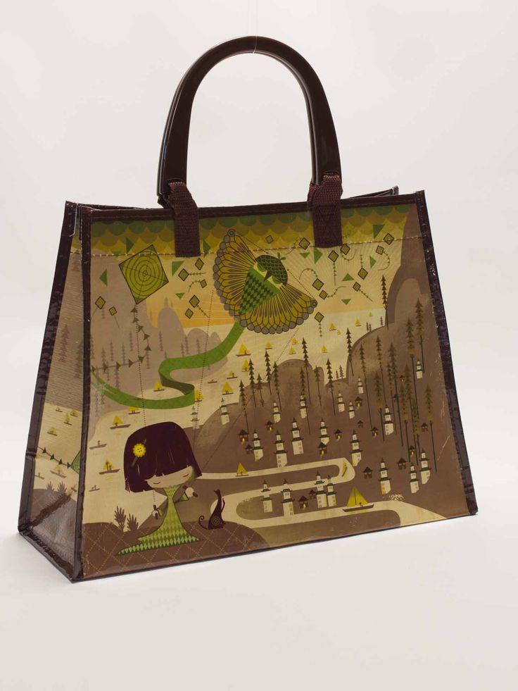 Origami Green Handbag