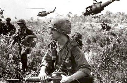 Vietnam. (You might remember how they were treated coming back from combat, we treated them terribly. They were just KIDS, and they were so terribly devastated, It was awful)