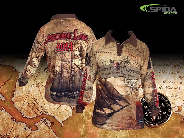YAAARGHH Me mateyies! Get yar next fishing shirts in a Pirate theme to find the Treasurrrrreee! http://www.spidasports.com.au/sublimated-fishing-shirts/