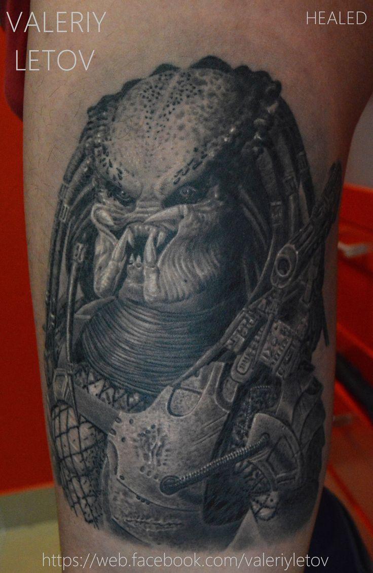 3d tattoos that will boggle your mind bizarbin com - Predator Tattoo By Valeriyletov