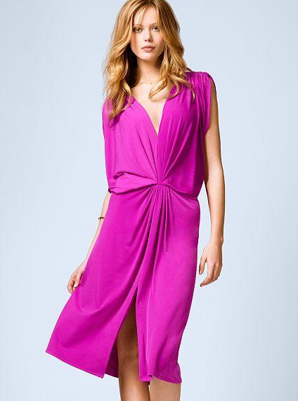 Double-plunge Jersey Dress