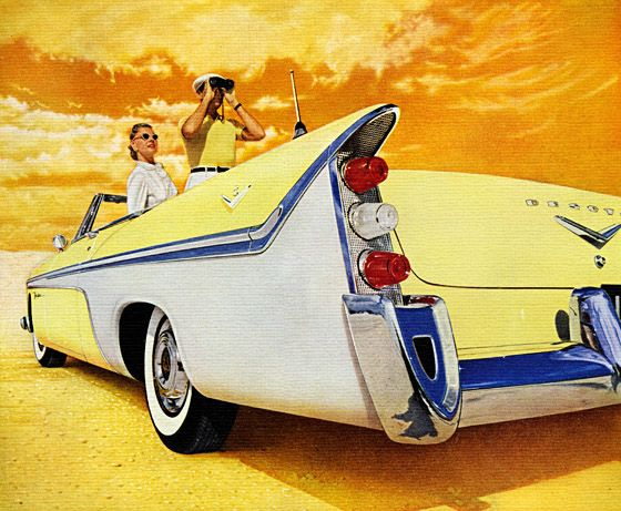 A museum and gift shop of mid-century illustration, Plan 59 has a formidable collection of vintage car ads from the 1930′s through 1950′s.