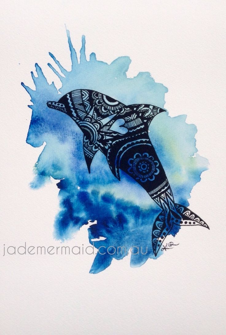 """A4 print of original """"Bottlenose"""" artwork by Kayleigh Rowbottam. High quality print on Hahnemuhle 100% rag textured watercolour paper"""