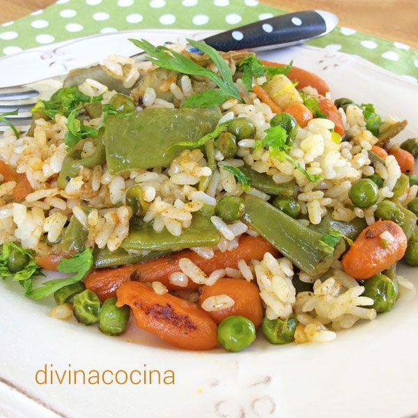 esta receta de arroz con verduras es sencilla y sabrosa en la preparacin debes evitar