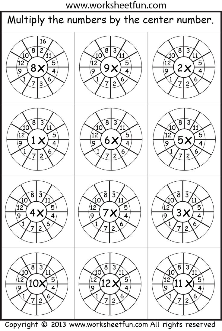 multiplication worksheet Helpful for memory work with Claritas Classical Academy Cycle 3 Math http://claritasclassicalacademy.com/Curriculum.html