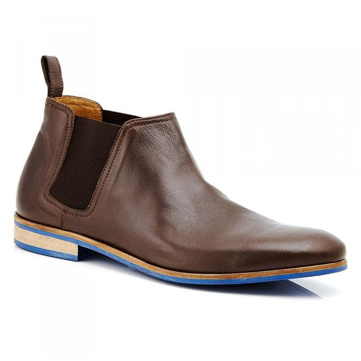 Men's Leather Chelsea Boot #mensboots #chelsea #chelseaboot #leather #bluesole #aquila #brown