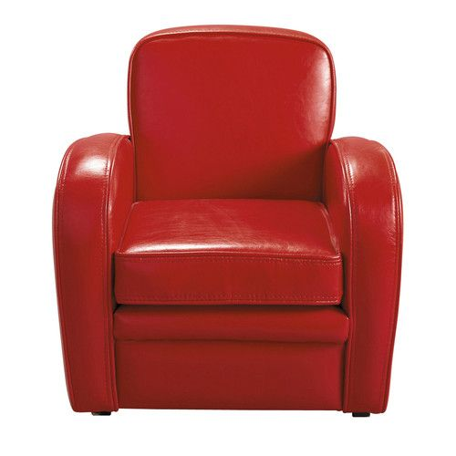 Fauteuil club enfant rouge BABY HARVARD
