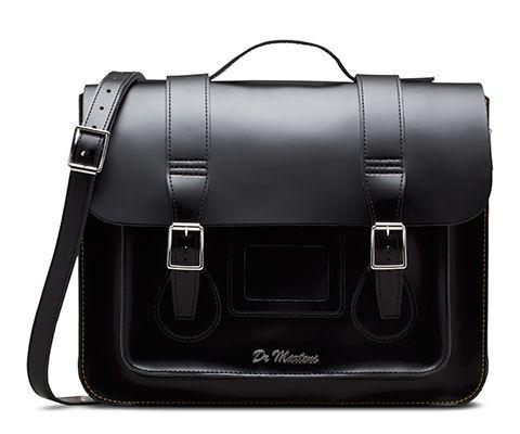 "15"" Leather satchel BLACK AB004014"