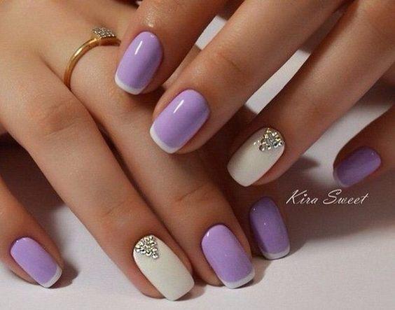 Lavender French Nail Design