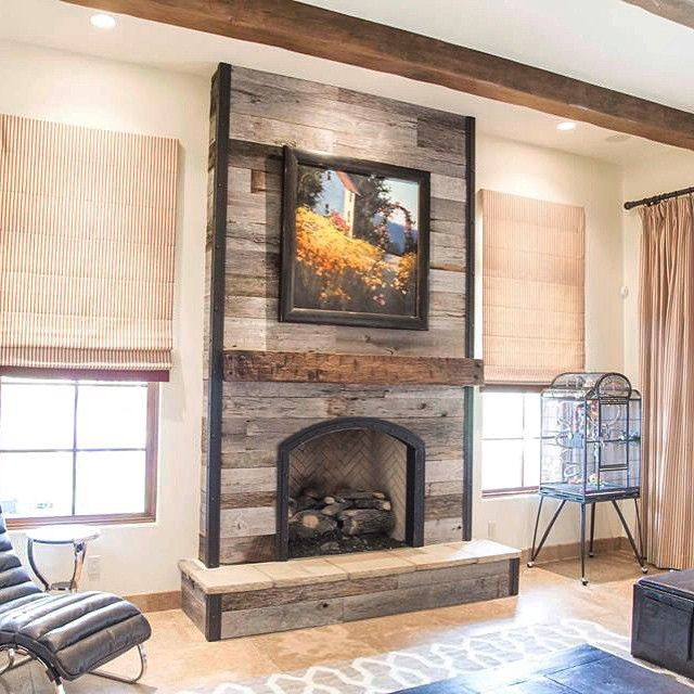 Image result for reclaimed wood tv over fireplace ideas
