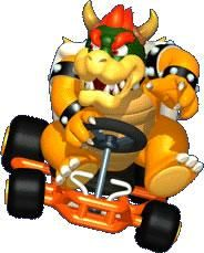 Bowser in his kart from the official artwork set for #MarioKart64 on the #N64. #MarioKart #Mario #Nintendo64. Visit for more info http://www.superluigibros.com/mario-kart-64