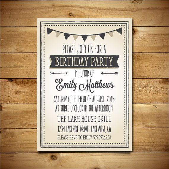 51 best Greeting Cards \ Party Invites images on Pinterest - how to make a birthday invitation on microsoft word