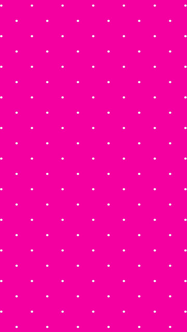 hot pink // white // polka dots