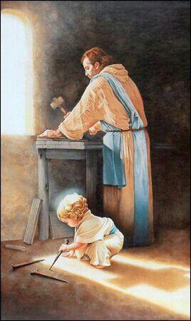 San José y el niño Dios.