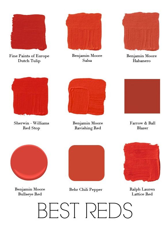 Different Shades Of Red best 25+ red paint colors ideas on pinterest | farmhouse color