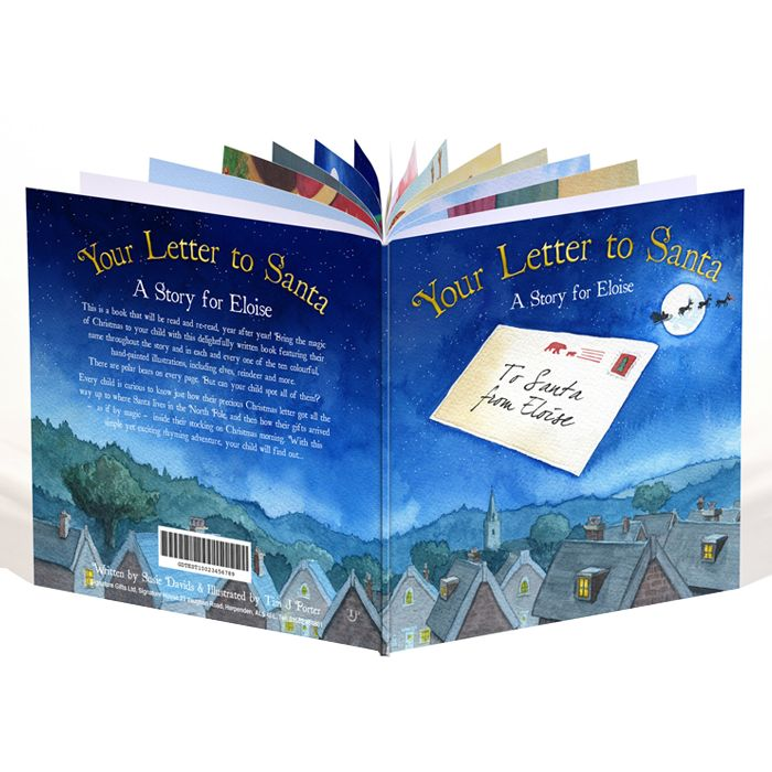 Personalised 'Your Letter to Santa' Book £9.99. A Christmas Eve bedtime story essential.