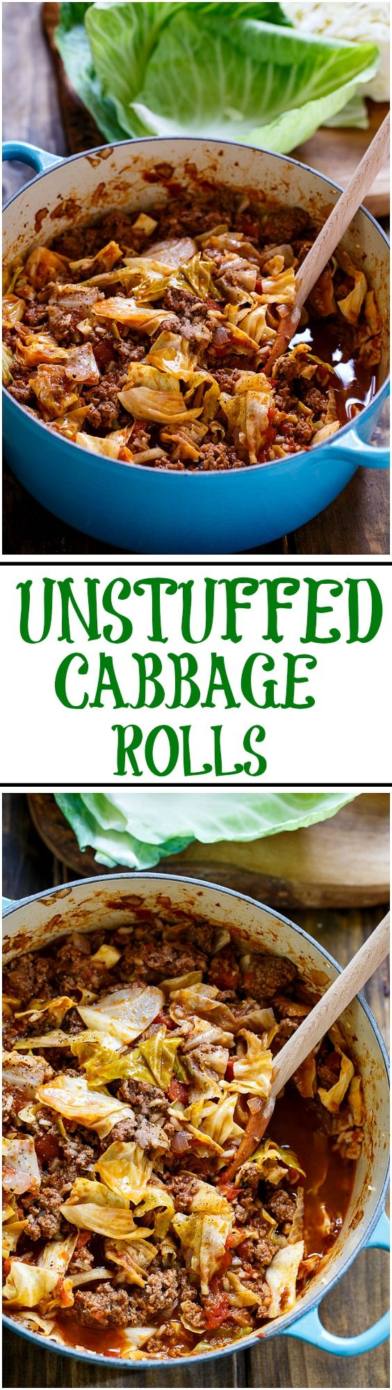 Unstuffed Cabbage Rolls. All the flavor of cabbage rolls but so much quicker and easier to make!