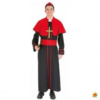 Kostüm Bischof, Tunika schwarz/rot kaufen