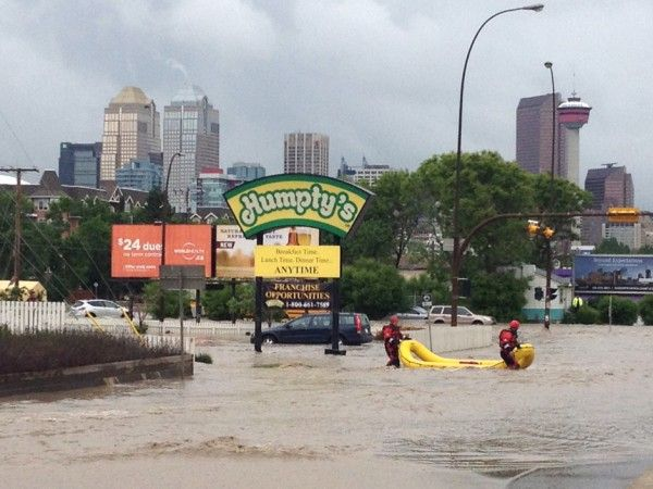 Hobbits and heroes vs. the Calgary flood