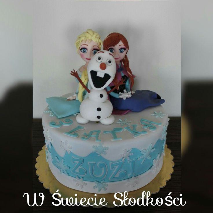 Elsa, Anna & Olaf Frozen cake