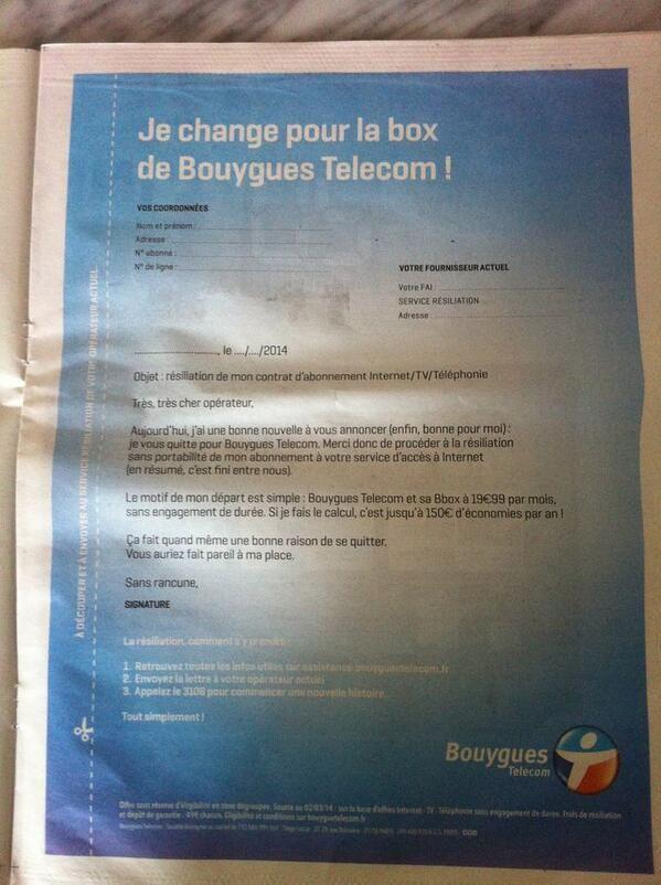 Pub Bouygues Telecom