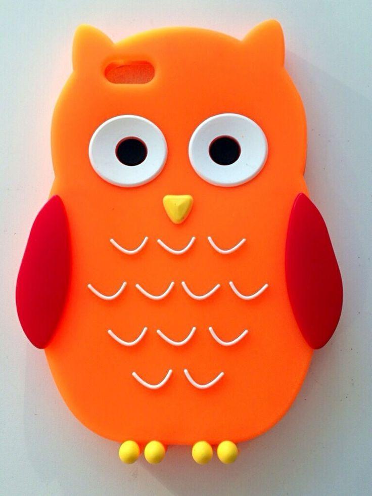 Carcasa silicona Buho naranja Iphone 5G/5S/5C a 5,95€ Envíos incluidos www.mcase.es