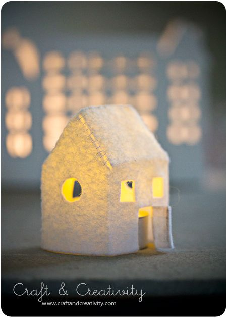 DIY Felt houses - tutorial and link to template.