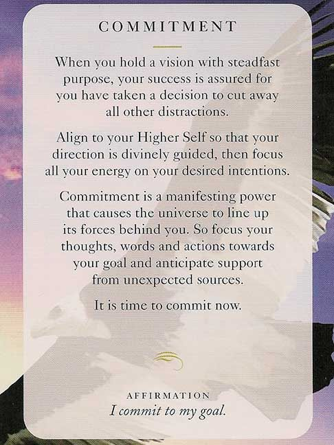 """Commitment"" –  Wisdom Card – Diana Cooper"
