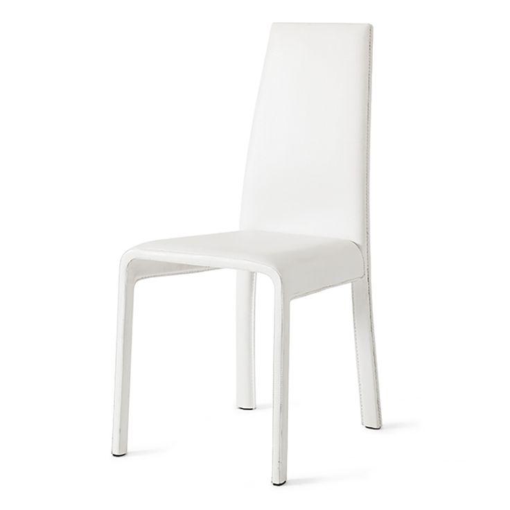 sedia vodka rivestita in ecopelle bianca